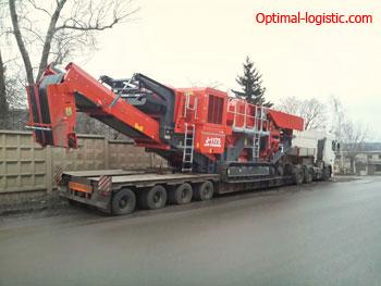 Transportation of crusher http://optimal-logistic.com