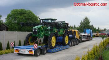 Transportation of the sprayer http://optimal-logistic.com