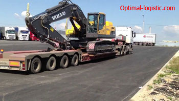 Transportation of excavator optimal-logistic.com