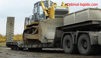 Bulldozer transport optimal-logistic.com