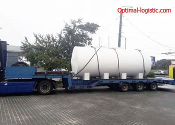 Transport of cisterns (boilers) http://optimal-logistic.com