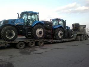 Перевозка двух тракторов