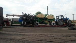 Перевозка сеялки GREAT PLAINS NTA 907 HD SPARTAN и трактора мтз1221, общая длинна 16.6м