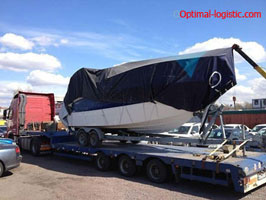 Transportation of a sailing yacht