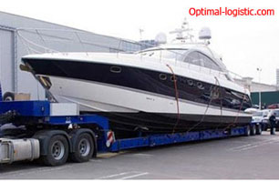 Transportation of yachts