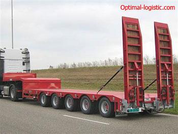 Платформа для перевозки негабаритных грузов