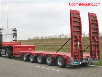 Platform for transportation of oversized cargo