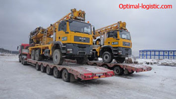 Transportation of large-size equipment