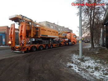 Transportation of a tower crane