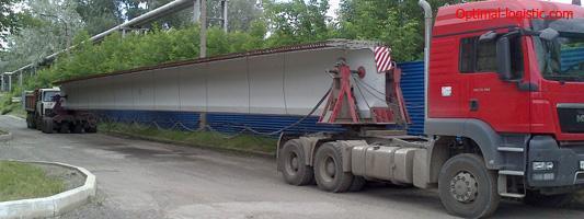Транспортировка мостовых балок